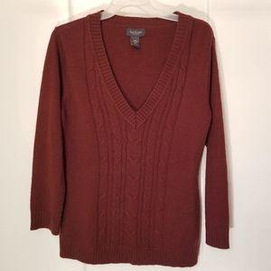 Van Heusen sweater size large burgandy